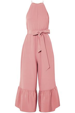 TIBI Ruffled silk crepe de chine jumpsuit