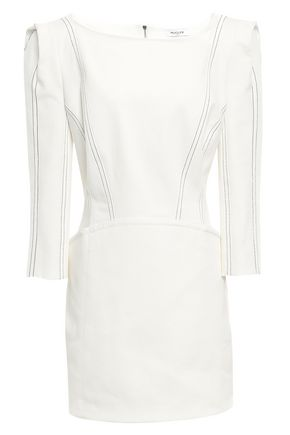 MUGLER Lace-up denim mini dress