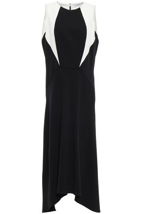 MUGLER Asymmetric crepe midi dress