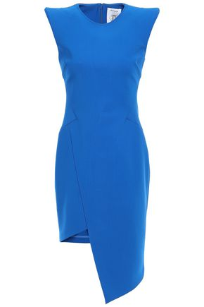 MUGLER Asymmetric ponte mini dress