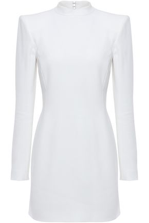 MUGLER Cutout stretch-crepe mini dress