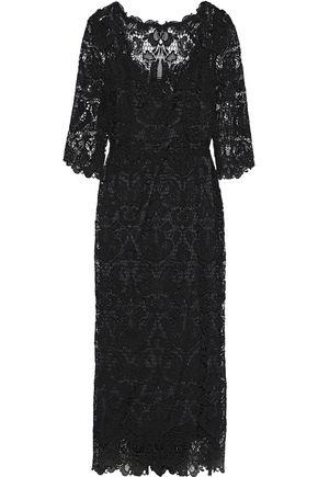 DOLCE & GABBANA Cotton-blend guipure lace midi dress