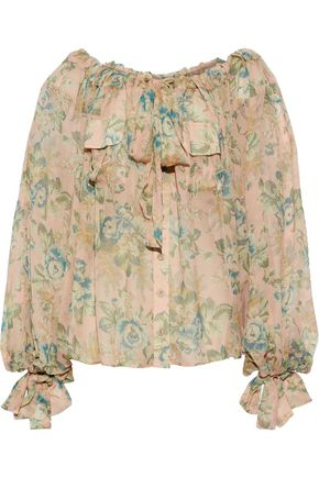 ZIMMERMANN Tempest floral-print silk-georgette blouse