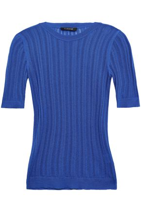 CUSHNIE Pointelle-knit top