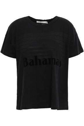 RAG & BONE Bahama flocked Pima cotton-jersey T-shirt