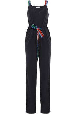 CHINTI AND PARKER Tie-front bamboo-jersey jumpsuit