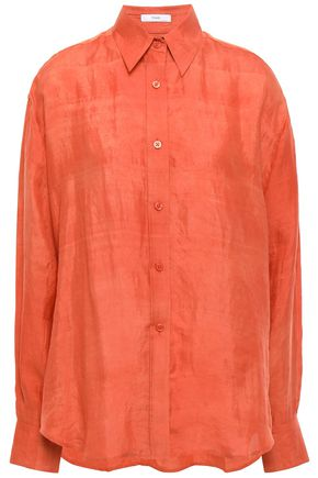 TOME Crinkled-silk shirt