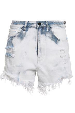ALEXANDER WANG Distressed denim shorts