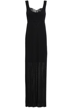 ROBERTO CAVALLI Guipure lace-paneled maxi dress