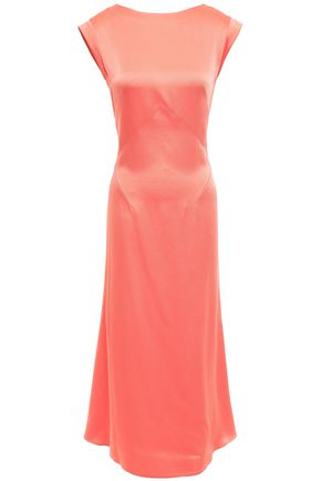 TOME Satin-crepe midi dress