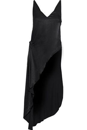LES HÉROÏNES by VANESSA COCCHIARO The Sappho asymmetric ruched satin top