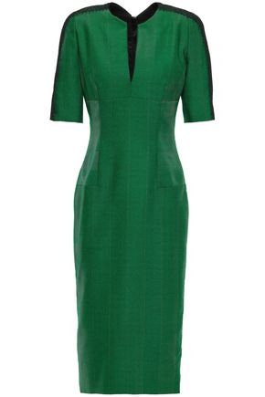 AMANDA WAKELEY Herringbone wool midi dress