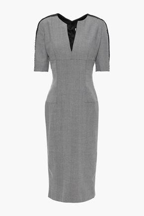 AMANDA WAKELEY Herringbone wool midi dress