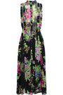 DODO BAR OR Crystal-embellished floral-print chiffon midi dress