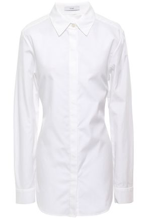 TOME Open-back cotton shirt