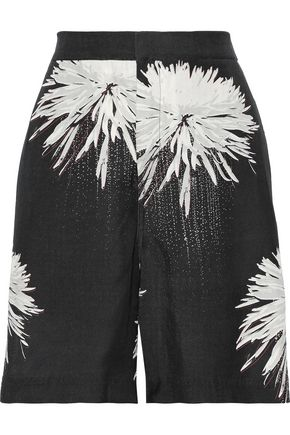 DOUBLE RAINBOUU Printed twill shorts