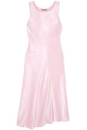 VINCE. Crinkled-satin midi dress