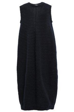 JIL SANDER Textured knitted midi dress