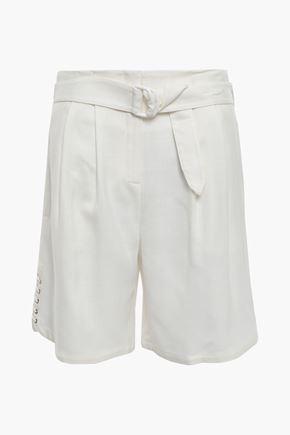 ROBERTO CAVALLI Belted gauze shorts