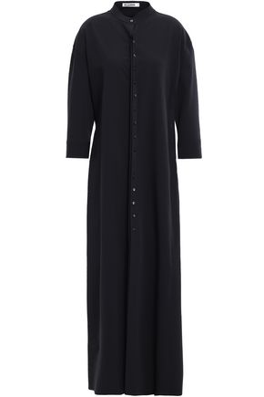 JIL SANDER Stretch wool-blend crepe maxi dress