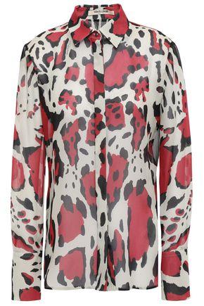 ROBERTO CAVALLI Silk-georgette shirt
