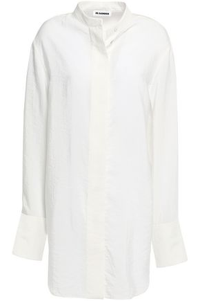 JIL SANDER Silk-blend crepe de chine shirt