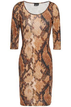JUST CAVALLI Snake-print stretch-jersey mini dress