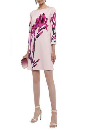 Just Cavalli Woman Floral-Print Stretch-Jersey Mini Dress Pastel Pink