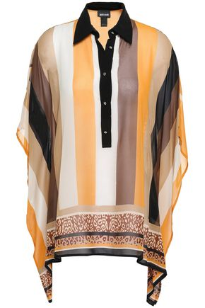 JUST CAVALLI Draped crepe blouse