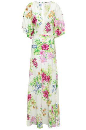 DODO BAR OR Draped stretch-crepe maxi dress