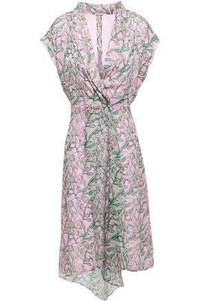 DODO BAR OR Wrap-effect floral-print chiffon dress
