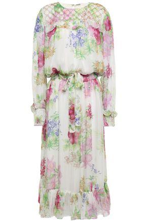 DODO BAR OR Ruffled studded chiffon midi dress