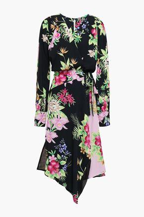 DODO BAR OR Ugo asymmetric crepe midi wrap dress