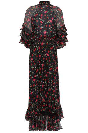 DODO BAR OR Tiered embellished chiffon midi dress