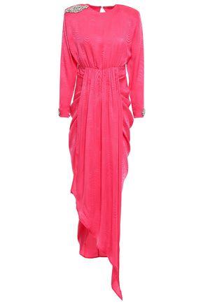 DODO BAR OR Grace gathered embellished silk-jacquard midi dress