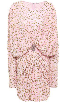 DODO BAR OR Crystal-embellished devoré velvet mini dress