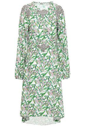 DODO BAR OR Marisa asymmetric embellished crepe midi dress