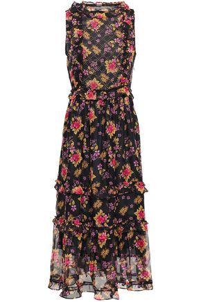 DODO BAR OR Simmone ruffled studded georgette midi dress