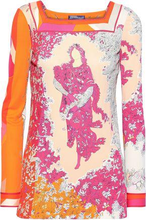 EMILIO PUCCI Floral-print cady top