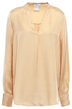 FORTE_FORTE Washed-satin blouse