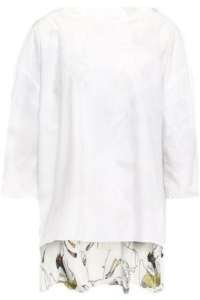 CHALAYAN Oversized cotton-poplin top