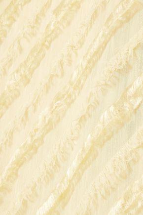 SID NEIGUM Fringe-trimmed gauze top