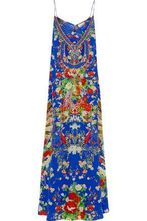 CAMILLA Playing Koi layered embellished silk-chiffon maxi dress