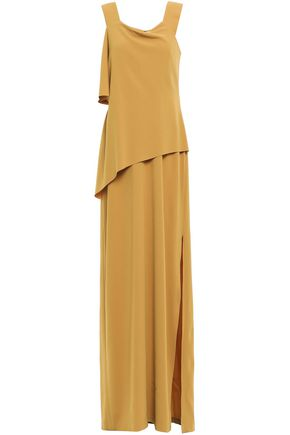 CHALAYAN Layered satin-crepe maxi dress