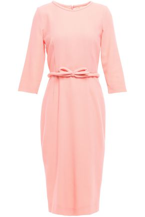 GOAT Belted wool-crepe midi dress