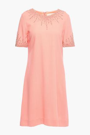 GOAT Embellished wool-crepe mini dress