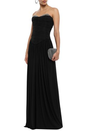 Alexander Wang Tops ALEXANDER WANG WOMAN EYELET-EMBELLISHED RUCHED JERSEY GOWN BLACK