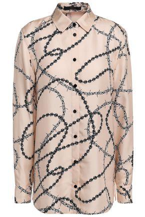 ALEXANDER WANG Silk satin-twill shirt
