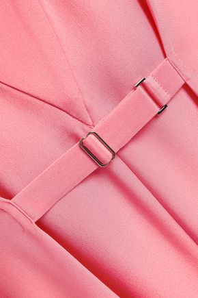 TIBI Belted silk crepe de chine midi dress