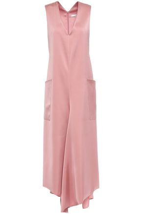TIBI Asymmetric satin midi dress